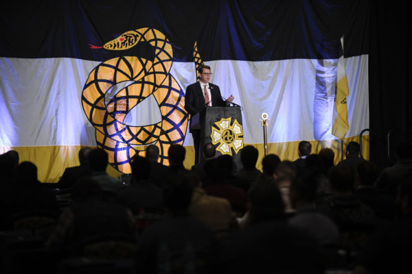 Scenes from day one of the 2019 Sigma Nu College of Chapters at the Hotel Roanoke on January 3, 2019. (David Hungate)
